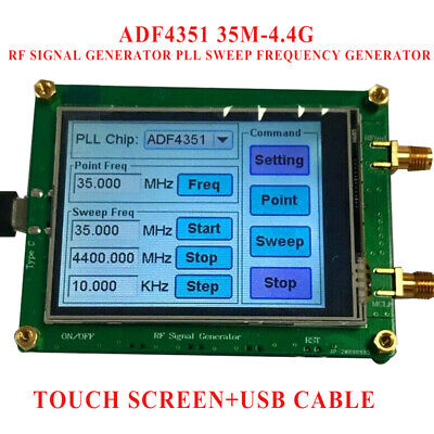 Touch Screen Adf4351 35m-4.4g Rf Signal Generator Pll Sweep Frequency Generator