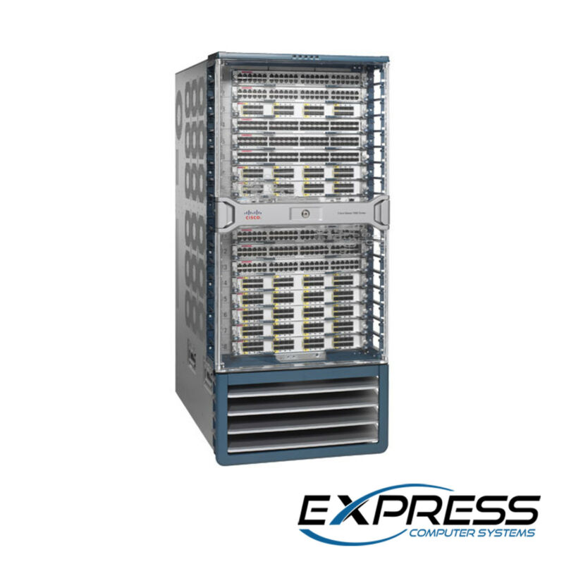 Cisco Nexus C7018 | 2x Sup2e | 16x F312fq-25 | 4x Ac-6.0kw | 5x C7018-fab-2