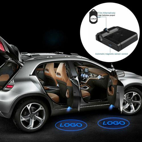 Car Parts - 2/4 Pcs Wireless LED Car Door Logo Projecter Lights Welcome Shadow Lamp Light UK