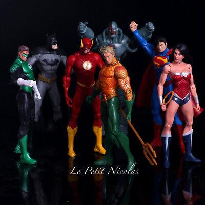 DC Comics Justice League 7 Stück Packung Figuren Superheld Superman Batman