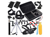 30 in 1 Pole Head Chest Mount Strap GoPro Hero 2 3 4 Camera Accessories Set Kit