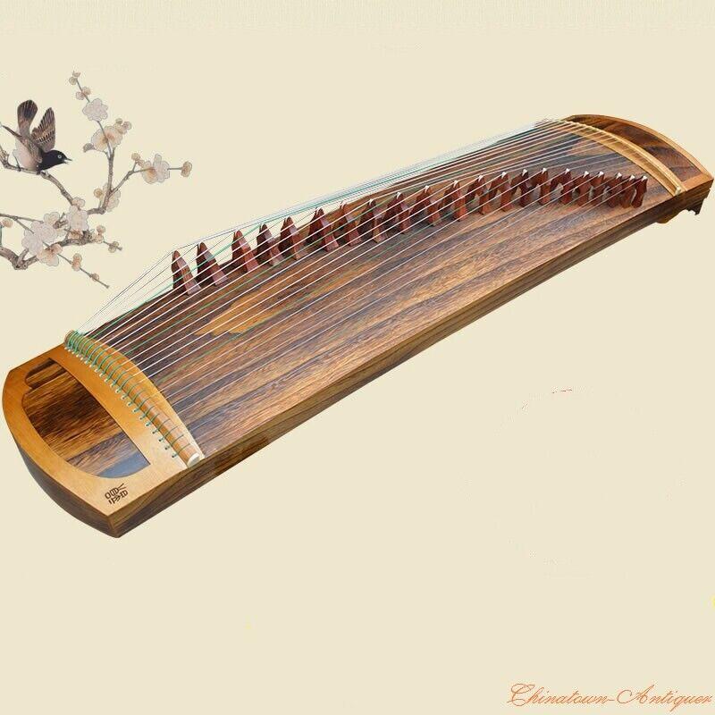 "Hand Wooden 51"" Chinese Zither Harp Koto 21-String Guzheng Concert Grade #1451"