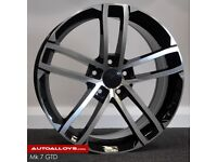 """19"""" GTD style alloy wheels and tyres (5x112) Suits Most VW, Seat and Audi A3 models"""