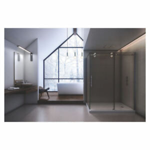Slik MTX-6032 60 Matrix Corner Shower Door Small Clear Glass Chr