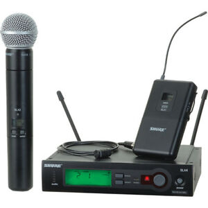 Shure SLX Wireless System with SM58 Handheld and Beltpack