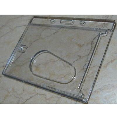 Horizontal Hard Plastic Id Card Badge Holder Wthumb Sl