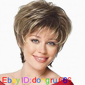 Cosplay-Pale-Blonde-Darkest-Brown-Mixed-short-Wig-With-Free-wig-cap-A44