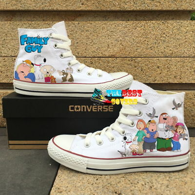CONVERSE All Star FAMILY GUY cartoon TV series hand painted shoes zapatos](Cartoon Converse Shoes)