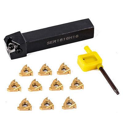 16er Ag60 16erag60 10pcs Ser1616h16 Lathe Threading Turning Tool Holder
