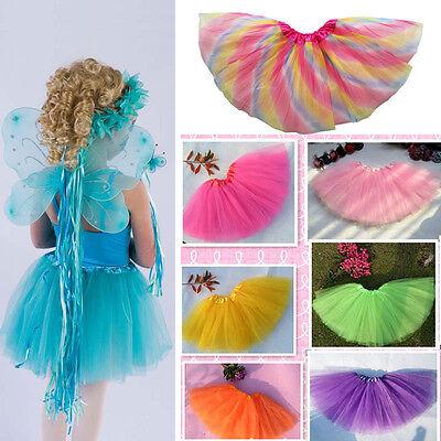 Girls Kids Tutu Party Ballet Dance Wear Dress Skirt Pettiskirt Costume Tulle