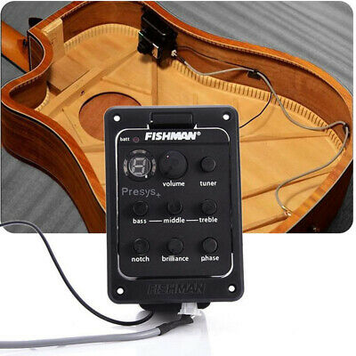 Fishman Presys Blend 201 4-Band EQ Tuner Preamp Pickup W/Mic for Acoustic Guitar