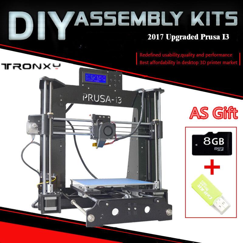 P802D 3D Printer Reprap Prusa i3 High Precision Acrylic Frame DIY+8G ...