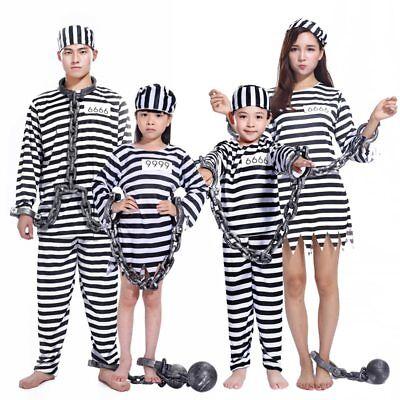 Halloween Prisoner Costume Men Women Kids Child Family Violent Prisoner Costumes](Prisoner Costumes Halloween)