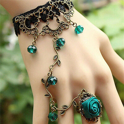 Hot New Women Gothic Lace Bracelet Bangle Retro Jewelry Women Prom Accessory