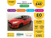Ford Fiesta 1.0, 1.2, 1.4, EcoB Zetec Titanium RED, 3dr FROM £45 PER WEEK!