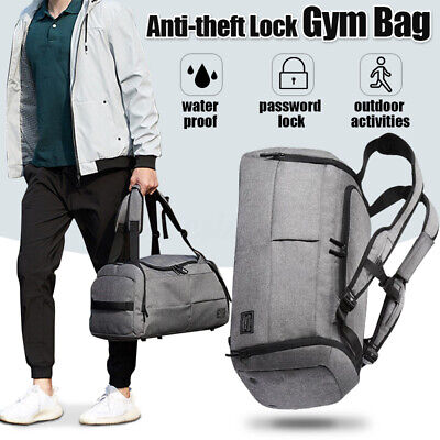 Waterproof Lock Travel with Shoes Compartment Handbag Backpack Duffel Gym US Bags