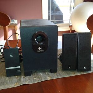 logitech speakers with sub