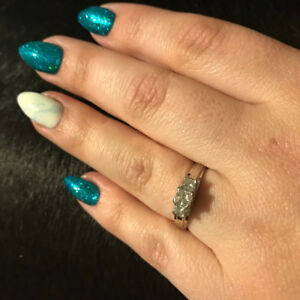 Wedding Set With Anniversary Band