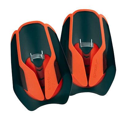 Speedo Fastskin Hand Paddle - Pair - Black / Siren Red