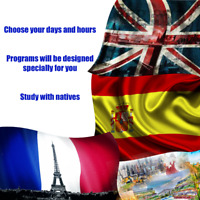 Personalized English, Spanish, and French language lessons