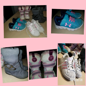 Girls Size 10/11 Brand Name Shoe Lot