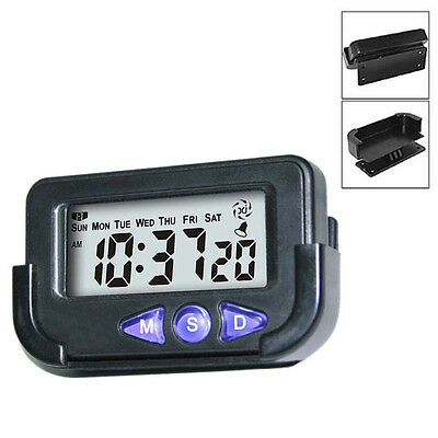 Pocket Digital Car Electronic Travel Alarm Clock Time Date Automotive Stopwatch