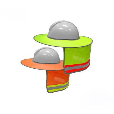 Construction Safety Hard Hat Sun Shade Reflective Helmet Neck Shield Stripe