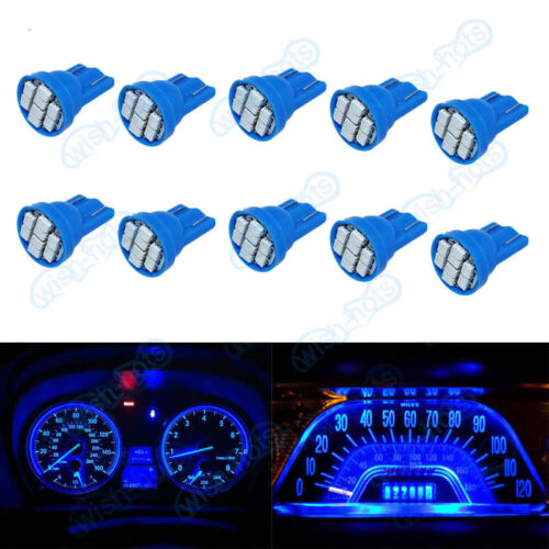10Pcs  Blue Bright 12V LED 194 Wedge Instrument Panel Light Bulb For Plymouth XB