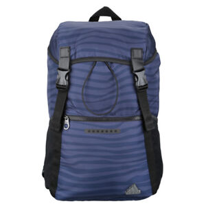 NWT Adidas navy blue striped backpack