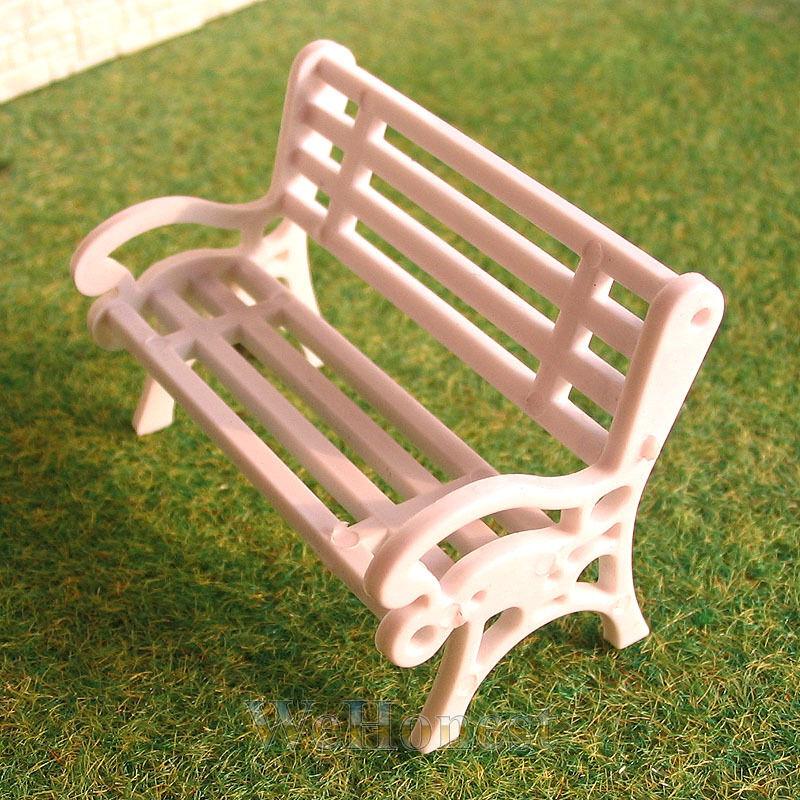 12 pcs G scale 1:24 Park Benches / platform settee #CW