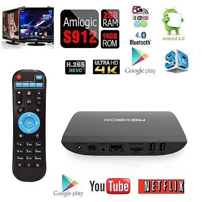 NEXBOX Android6.0 TV BOX Amlogic A1 S912 64Bit Octa-Core 2GB/16GB 4K DUAL WIFI