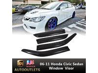Bug Deflector-Carflector Stone// AUTO VENTSHADE 20901 fits 06-10 Honda Civic TM