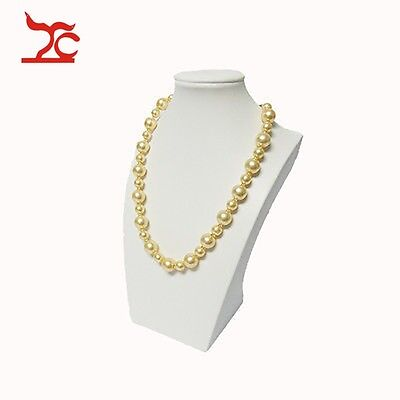 White Pu Model Jewelry Holder Mannequin Necklace Stand Luxury Shop Display 26cm