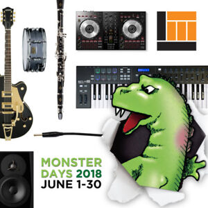 Monster Days are on at Long & McQuade Musical Instruments!