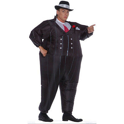 Gangster Inflatable Costume Halloween Costume For Men Inflatable Suit Black Suit - Gangster For Halloween
