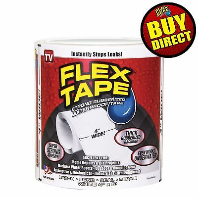 Flex Tape Rubberized Sealant Tape   Super Strong  Waterproof  White  Buy Direct