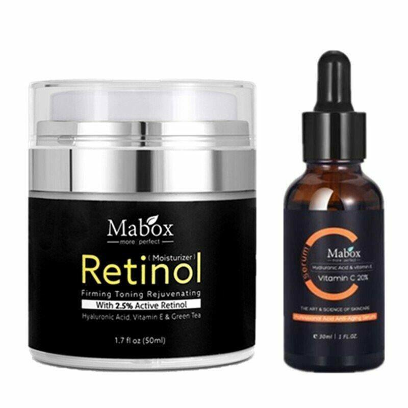 MABOX 2.5% Retinol Whitening face cream + Vitamin C Serum An