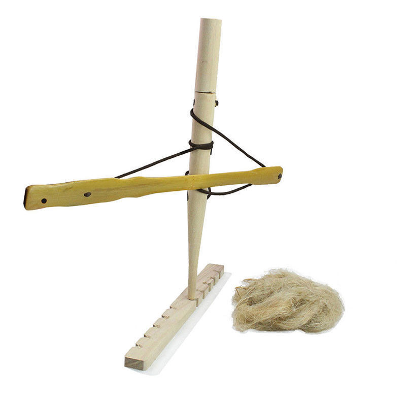 Starter Bow Drill Fire Set Primitive Fire Starter Hand Wood Fire Lighter Kit UK