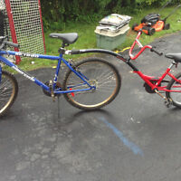 26 inch 6 speed bike and runabout attachment