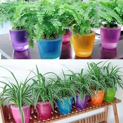 6 Colors Self-Watering Flower Pots For Home Graden Decor Indoor Potted plants