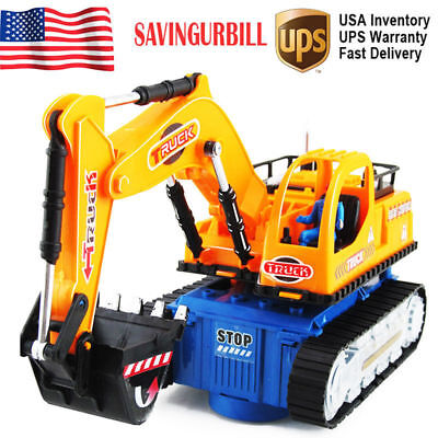 Toys for Kids Toddler LED Truck Excavator 4 5 6 7 Years Old  Boys Cool Xmas Gift - 4 Year Old Christmas Gifts