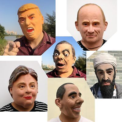 Obama Mask Halloween (Natural Latex Funny Cosplay Halloween Mask Celebrity Donald Trump Obama)