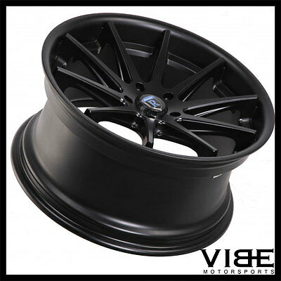 "19"" ROHANA RC10 BLACK CONCAVE WHEELS RIMS FITS HYUNDAI GENESIS COUPE"