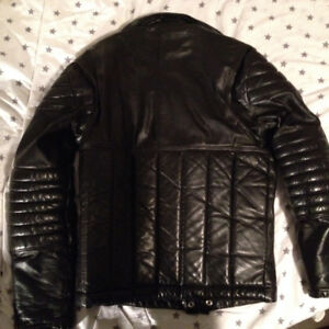 Mens small leather motorcycle jacket