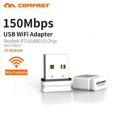 802.11b/g/n 150Mbps Wireless USB WiFi Adapter Network Dongle for Desktop Laptop segunda mano  Embacar hacia Argentina