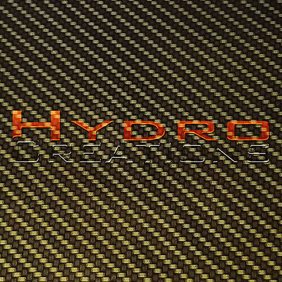 Hydrographic Film Hydro Dipping Water Transfer Chrome Carbon Fiber Gold 38.5x19