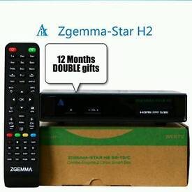 Zgemma H2 box with TWIN 12 MONTHS GIFTS