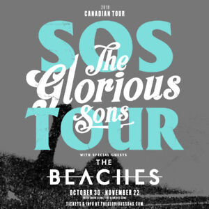 GLORIOUS SONS FLOOR TICKETS FOR SALE!! 416.678.3074