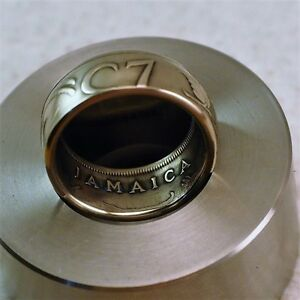 Beautiful JAMAICAN 25 Cent Coin Ring