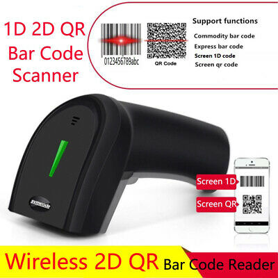 Symcode Handheld 2.4ghz Wireless Barcode Scanner 1d 2d Qr Laser Bar Code Reader